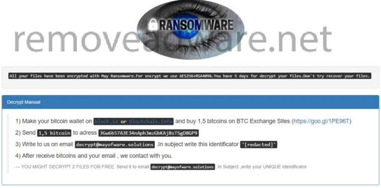 remove May Ransomware