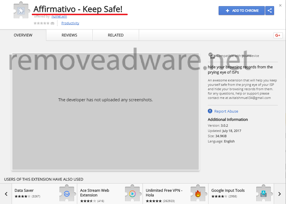 Remove Affirmativo - Keep Safe! extension and Stop redirects
