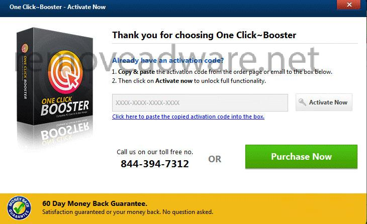 remove One Click Booster