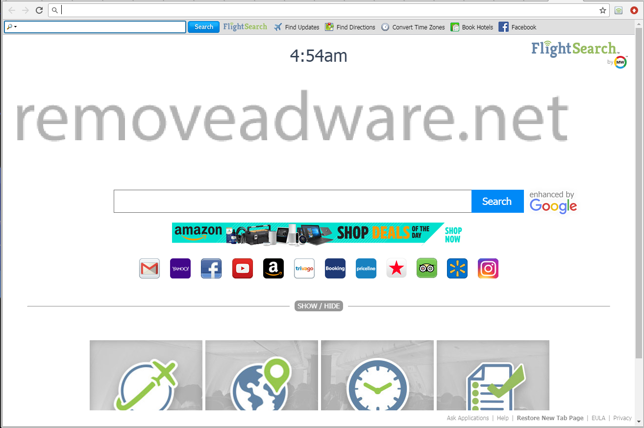 Flightsearchapp com Web Browser Adware (removal guidance