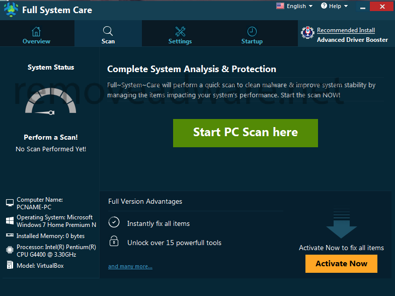 remove Full System Care