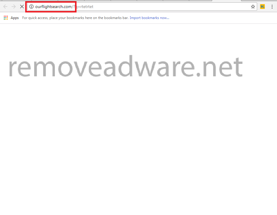 remove Ourflightsearch.com