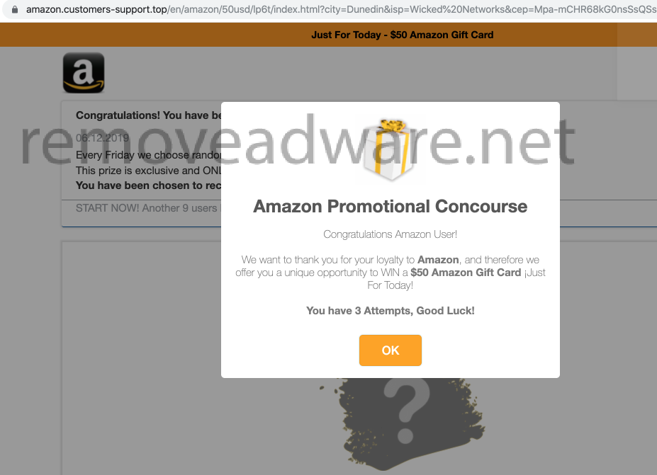 remove Amazon.customers-support.top