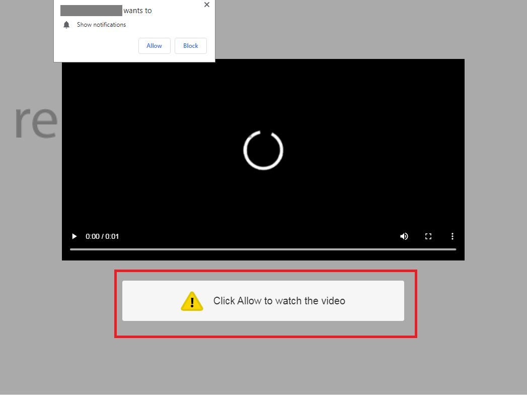 remove Click Allow to watch the video