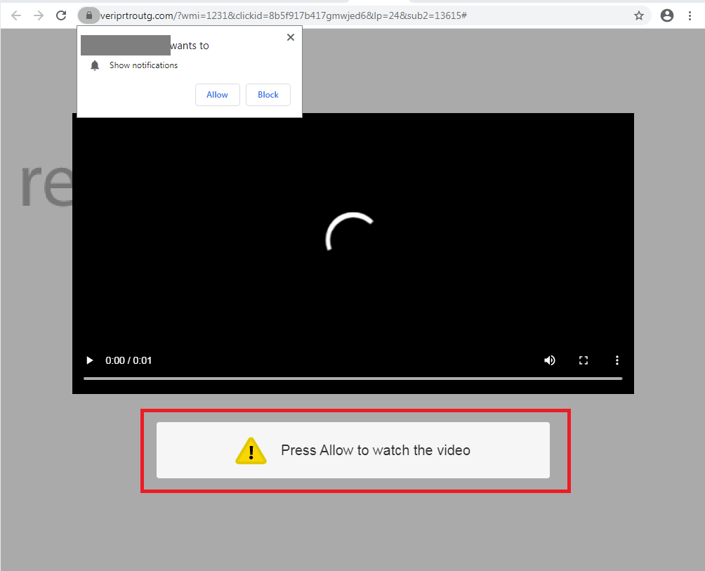 remove Press Allow to watch the video
