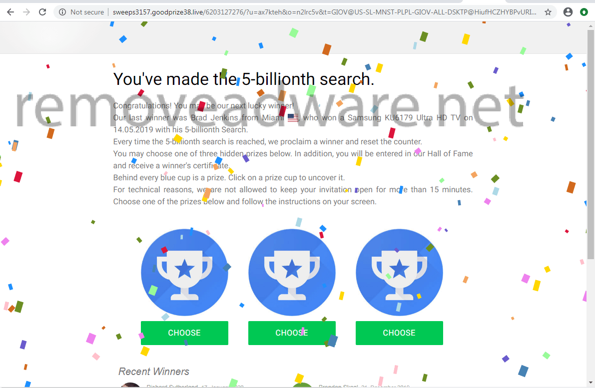remove You've made the 5-billionth search