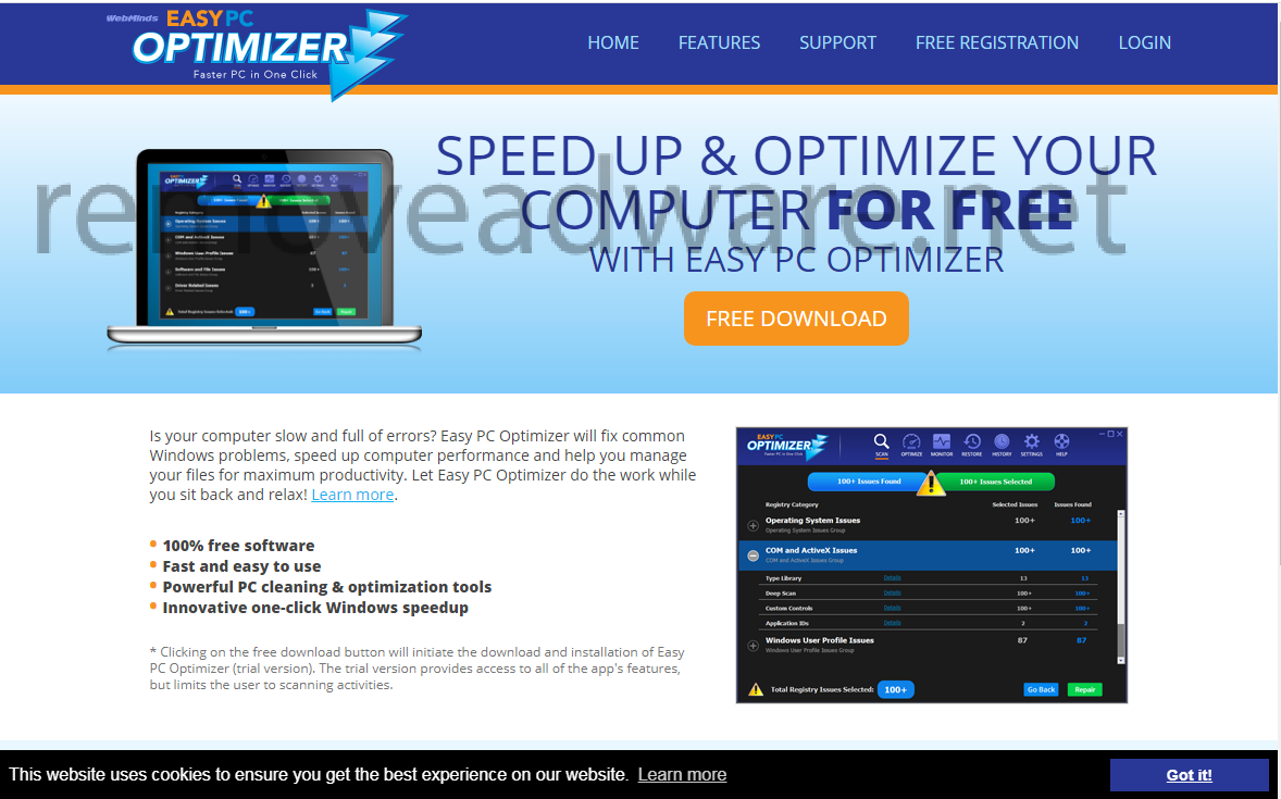 remove Easy PC Optimizer