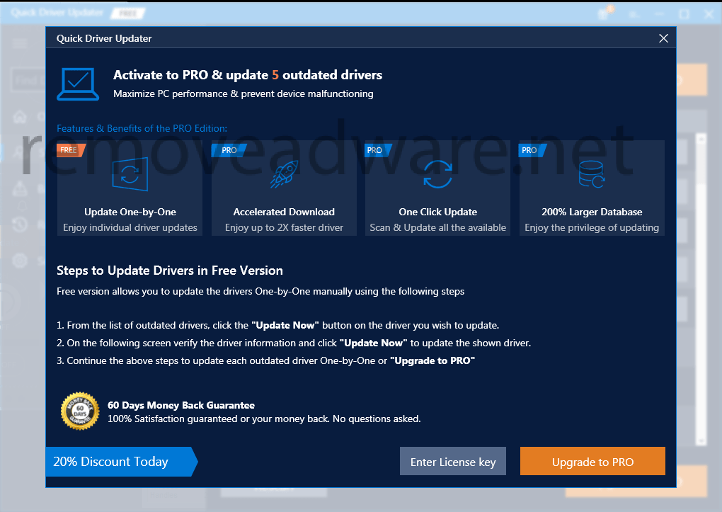 remove Quick Driver Updater