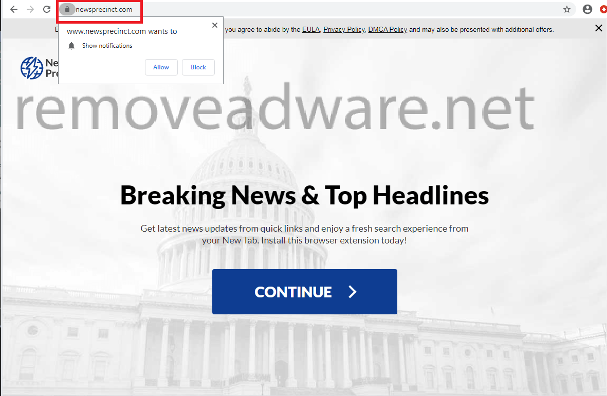 remove Newsprecinct.com